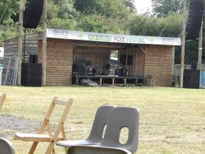 The New Forest Folk Festival Main Stage 2017.